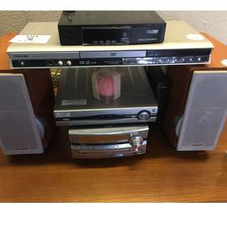 Toshiba dvd player Plus Panasonic DvD stereo system