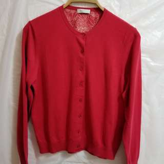 New Paul Smith Red Cardigan, Size: L