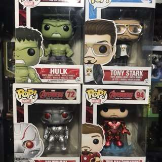 (SOLD)Pop Avengers Hulk, Iron man, Tony Stark, Ultron