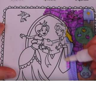 Magic Mess-free Coloring Book for Girls