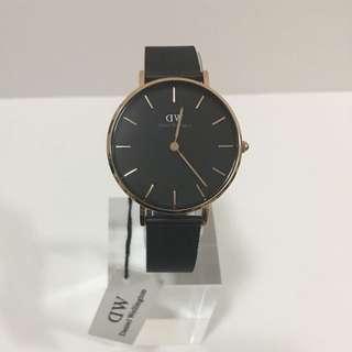 DW黑色鋼錶32mm