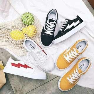 Strike White/Black/Mustard Sneakers
