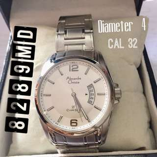 Jam tangan pria cowok original alexandre christie AC 8289MD CaL32 Diameter 4
