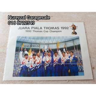 Setem Stamp Juara Piala Thomas 1992