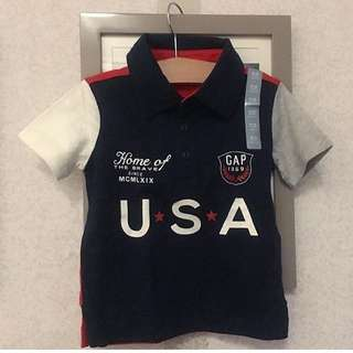 NEW GAP Polo Shirt 18-24, 2y