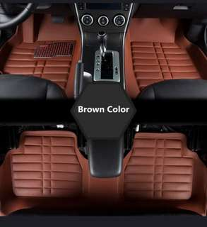 5pc Universal leather car mat