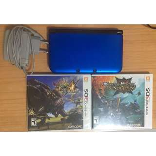 Nintendo 3DS XL In Blue Color