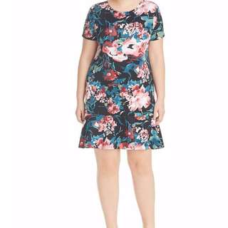 💋3D Floral Plus Size Dress