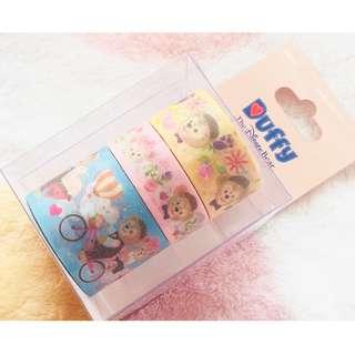 香港迪士尼樂園 - 裝飾紙膠紙3卷Duffy Shelliemay Gelatoni Masking tape set