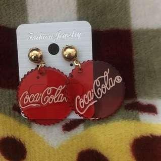 🚚 可樂蓋耳針耳環
