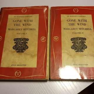 Vintage Margaret Mitchell Gone with the wind volumes 1 and 2