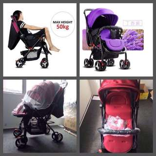 2 Way Facing Baby Stroller with Free Gift💞