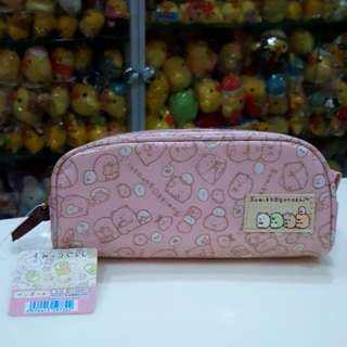 BN Japan San-x Sumikko Gurashi Pink Zip Pouch / Pencil Case