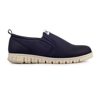 Sepatu Pria Kasual Santai Slip On Original Navara Zelig Black