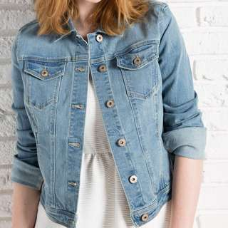 Bershka Denim Jacket Wash