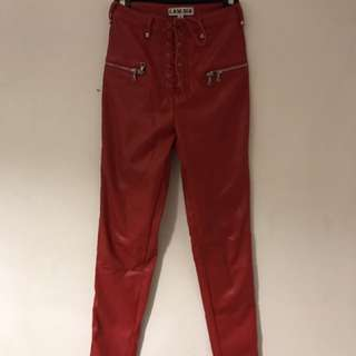 I.AM.GIA red leather pants