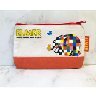 🚚 二手|Elmer 大象艾瑪 花格象 筆袋