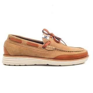 Sepatu Pria Kasual Santai Slip On Loafers Original Navara Videl Brown