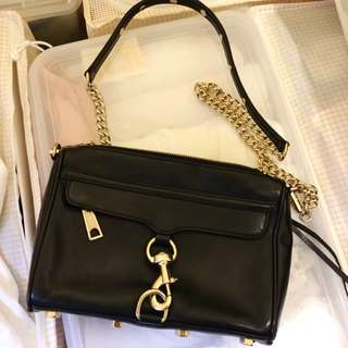 Authentic Rebecca minkoff 黑金經典款斜咩袋 small bag