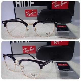 Rayban Clubmaster Optic Gold Frame