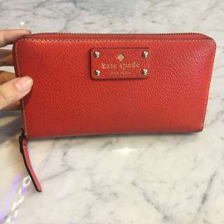 Authentic Kate Spade red wallet
