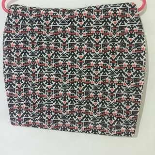 Tribal pattern skirt by PULL&BEAR