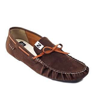 Sepatu Pria Kasual Santai Slip On Loafers Original Navara Levi Brown