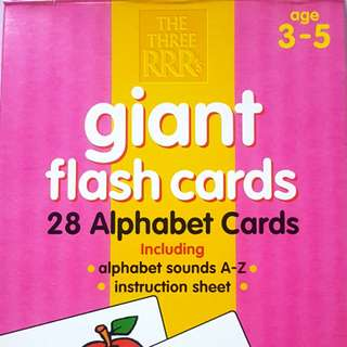 ELC Giant Flash Cards - Alphabets