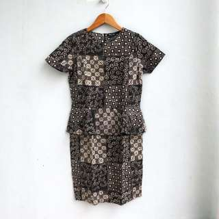 Batik Peplum Dress - NETT PRICE