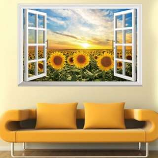 Sunflower wall stickers