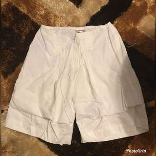 Folded & Hung White Shorts