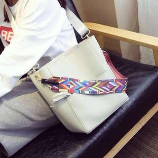 [PO] Rainbow Strap Messenger Bag