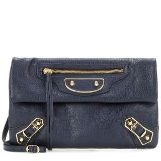BALENCIAGA Classic Metallic Edge Envelope Strap Crossbody Bag