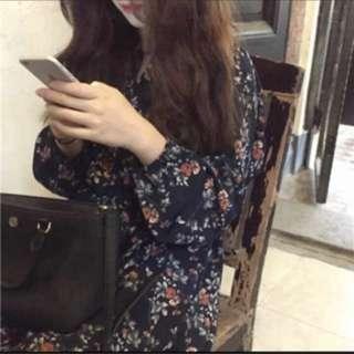 韓國碎花洋裝