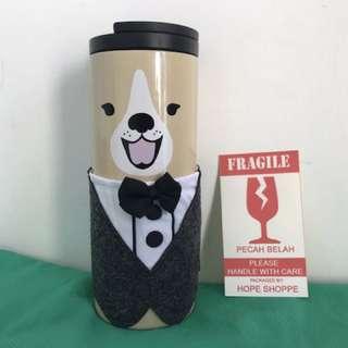 Starbucks Tumbler Dog Face Tuxedo Stainless Steel Original Tall Year of the Dog Tahun Anjing