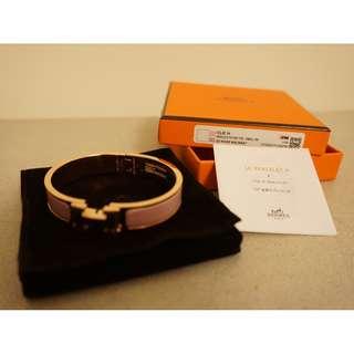 HERMES Lady's 2D Rose Nacarat Bracelet