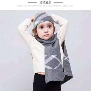 小童Burberry 圍巾帽禮盒套裝 羊絨混紡圍巾超級無敵保暖❣️