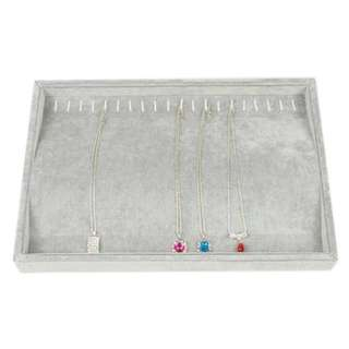 Necklace Accessories tray with plastic cover set