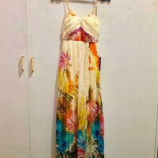 Floral Long Dress with pads