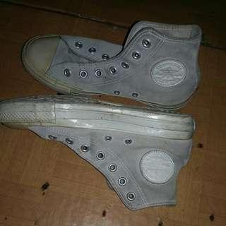 Sepatu Converse Leather White Original Size U.S 5,5. Nego Halus. Tanya2 Lgsg Dm Aja