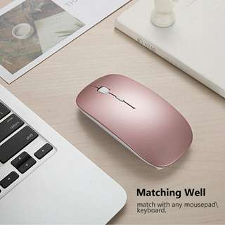 Pink Wireless Bluetooth mouse for sale