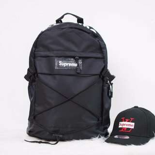 SUPREME BACKPACK & CAP [2 in 1] ♥ DISCOUNT PRICE !!!