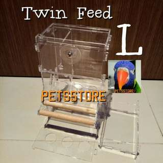 Acrylic feeder (Large Twin feed)