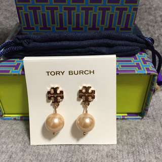 Tory Burch Earrings Rosw Gold Peral 玫瑰金吊耳環