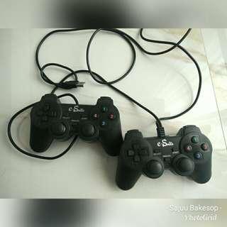 gamepad / joystick Double / dual untuk pc dan laptop merk e-smile