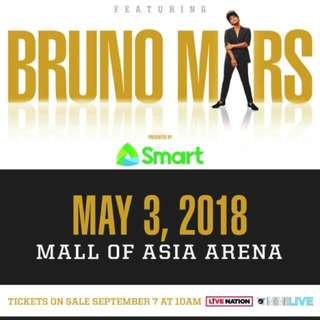 Bruno Mars 24K Magic Concert Ticket MAY 3, 2018
