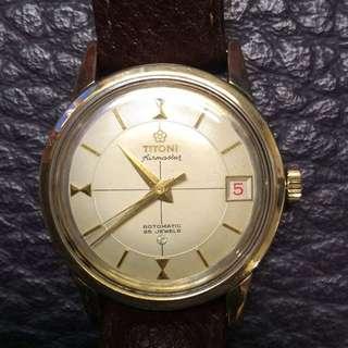 古董白梅花包金全自動男裝機械錶