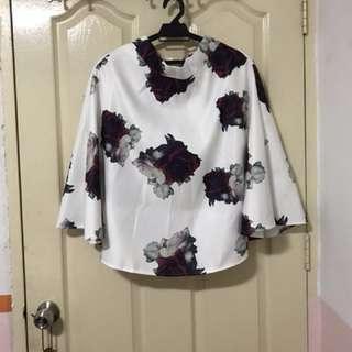 [Y] Floral Midi Skirt