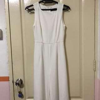 [Y] Asymmetrical Hemline Romper Jumpsuit in White