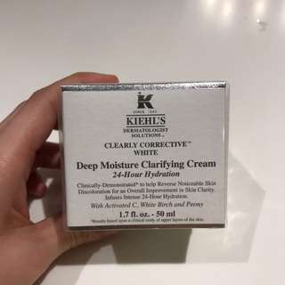 Kiehl's deep moisture clarifying cream 24hr hydration clearly corrective white 50ml